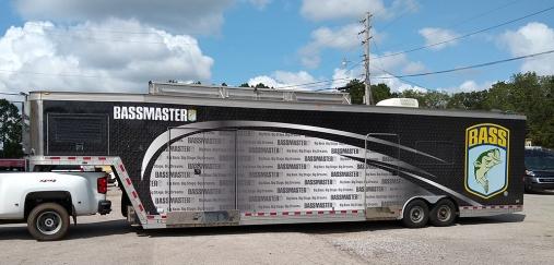 Bassmaster tourney trailer
