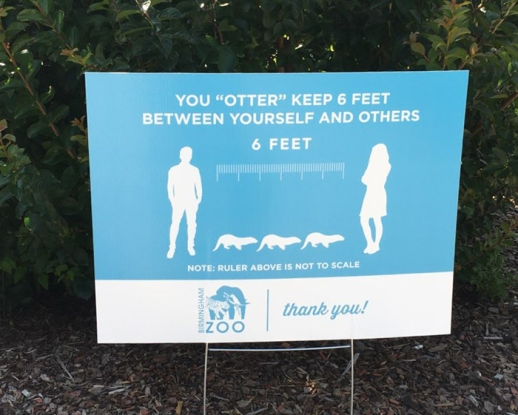 6 foot distancing sign