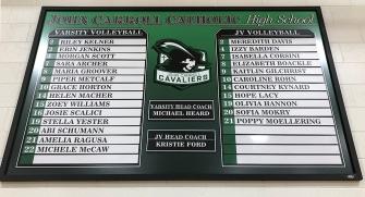 JCCHS Volleyball Roster